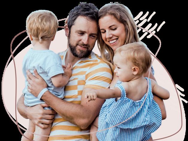 Sundhed<sup>+</sup> - glad familie